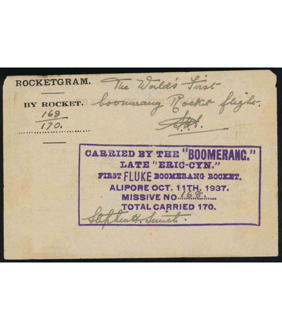India - 1937 - S.H.Smith - Boomerang...