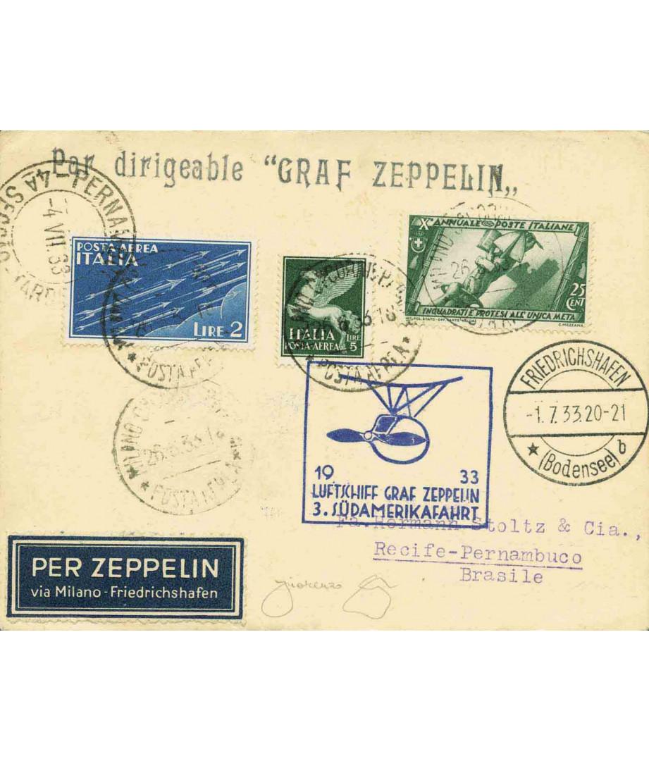 Italia - 1933 - LZ 127 Graf Zeppelin...