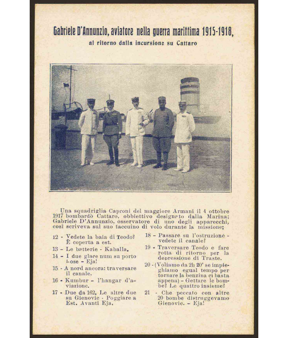 Gabriele D'Annunzio, aviatore nella...
