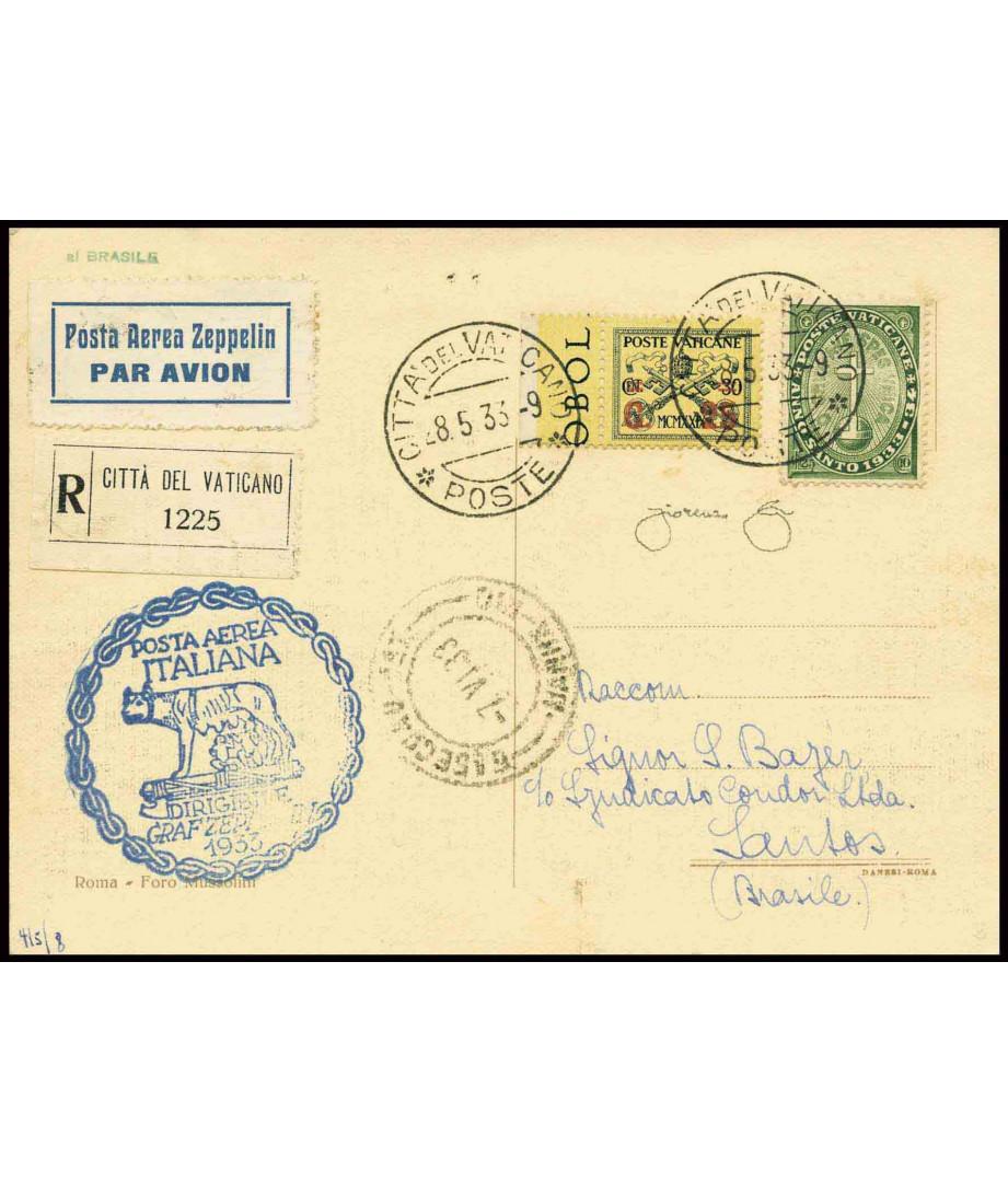 Vatican City + Italy L.10 - 1933 - LZ...