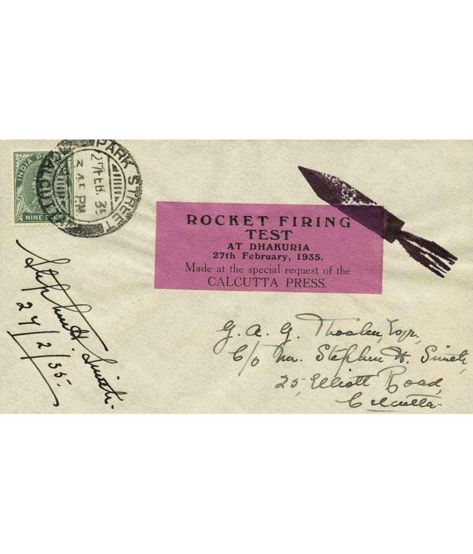 India - 1935 - S.H.Smith - Rocket...