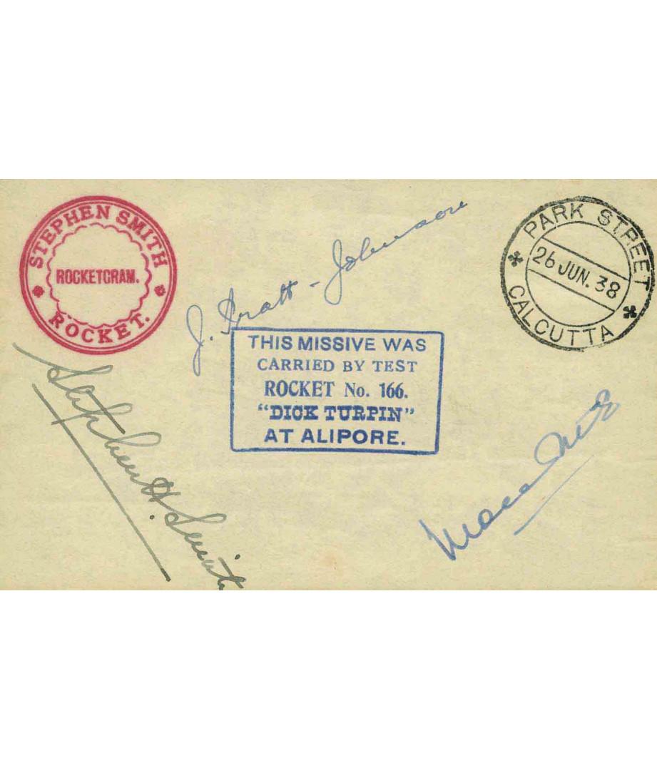 India - 1938 - S.H.Smith - Rocket...